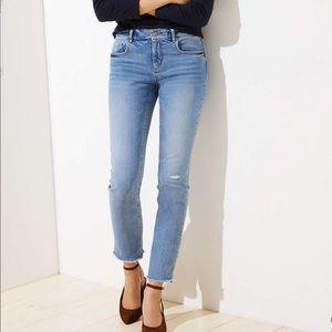 NWT Loft Destructed Straight Leg Jeans